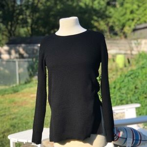 Athleta Black Long Cable Knit Pullover Tunic